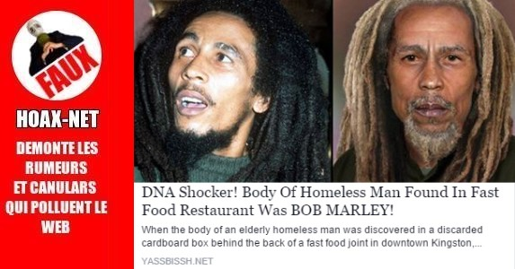 Deuxième décès de Bob MARLEY !