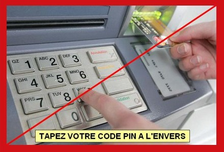 code carte bleue à l envers NON, taper notre code de carte bancaire à l'envers n'appelle pas