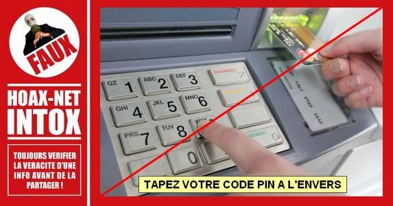 NON, taper notre code de carte bancaire à l'envers n'appelle pas la Police !