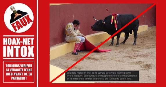 Non, ce ne sont pas les remords d'un matador.