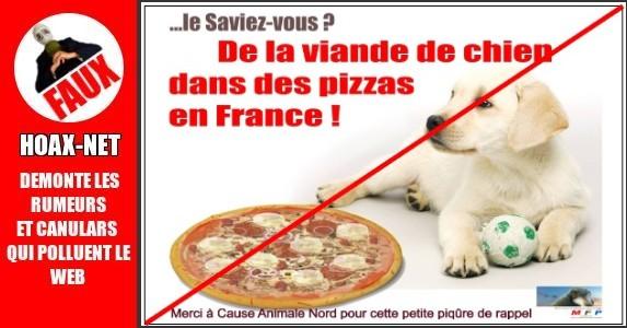 De la viande de chien dans les pizzas.