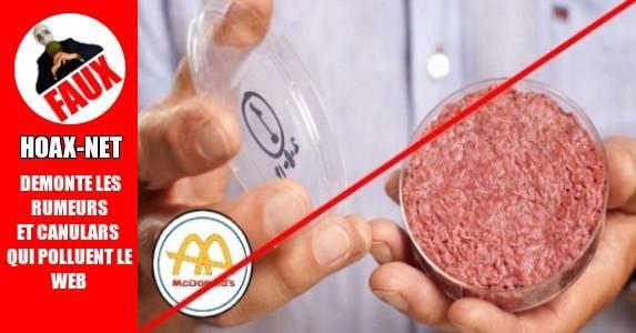 Vers de terre dans les hamburgers du Mc DO