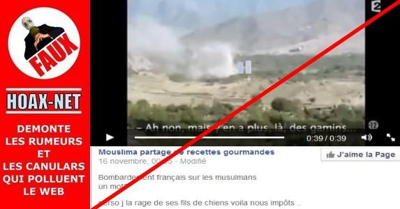 FAUX – Ce ne sont pas des bombardements Français sur des musulmans !