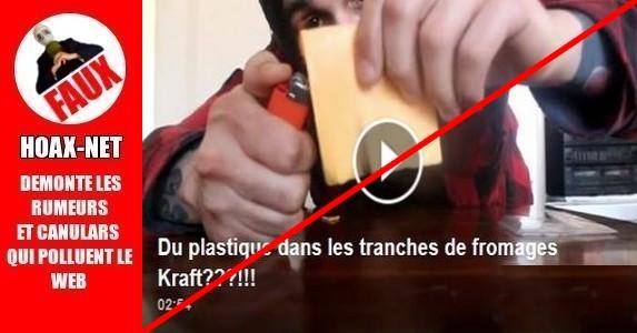 Du plastique dans les tranches de fromage Kraft ?