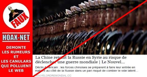 Non, il n'y a pas de porte-avions chinois au large de la Syrie !