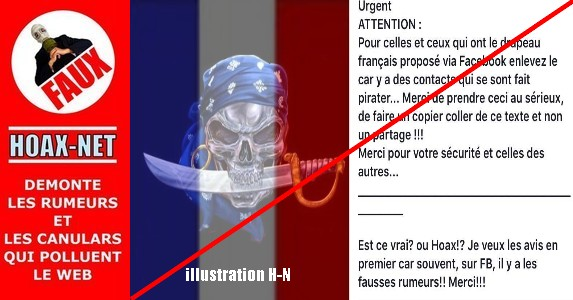 NON, le drapeau Français proposé par Facebook n'est pas propice aux  PIRATES ! !