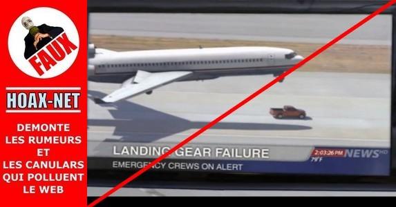 Un avion en détresse n'a pas été sauvé par un pick-up !