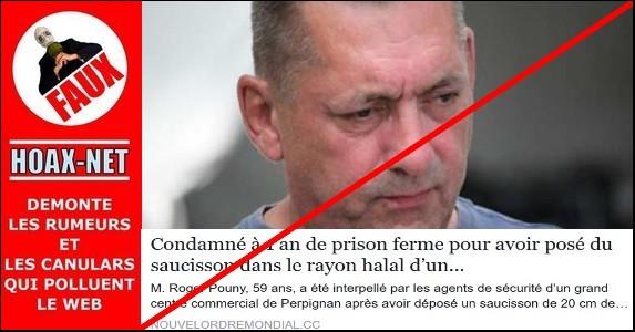 NON, M. Roger Pouny, 59 ans, n'a jamais été interpellé par les agents de sécurité d'un grand centre commercial de Perpignan