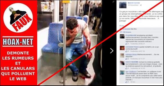 NON, Ce garçon musulman n'a pas été agressé en Allemagne par un groupe d'islamophobes allemands !
