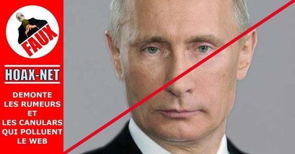 Non, Poutine n'a pas prononcé de discours sur les minorités et la Charia auprès de la Douma