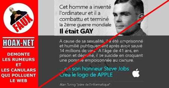 Non, le logo d'Apple n'est pas un hommage à Alan Turing ni aux gays.