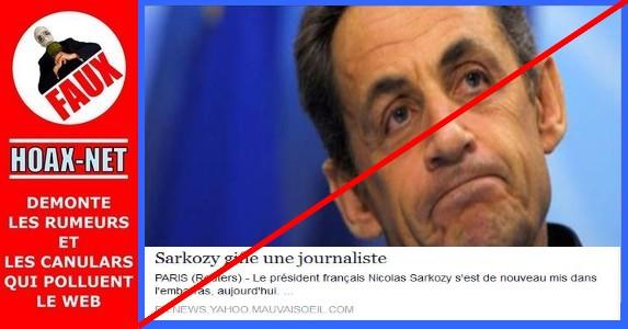 NON, Sarkozy n'a pas giflé une journaliste