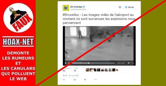 Bruxelles : de fausses images des explosions circulent !