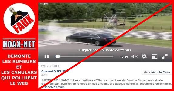 NON, ce ne sont pas les chauffeurs d'Obama, membres du Service Secret, en train de s'exercer !