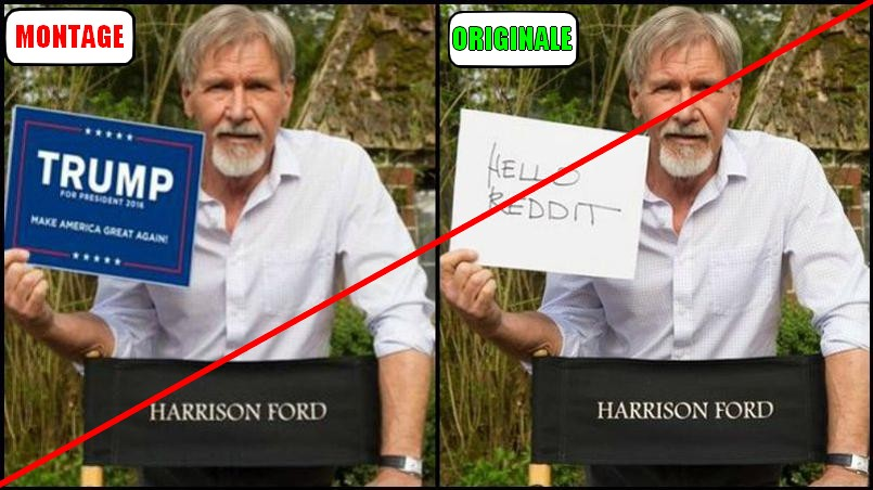 HARRISON FORD SOUTIENT TRUMP-
