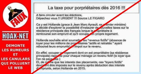 Non les propri taires occupants ne seront pas tax s hoax net - Projet taxe proprietaire ...