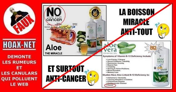 NON, l'Aloe Vera n'est pas la boisson miracle qui guérit tout