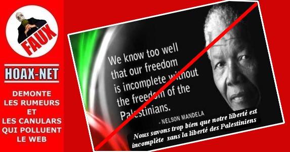 NON, Nelson Mandela n'a jamais écrit cette lettre, ni cette citation !