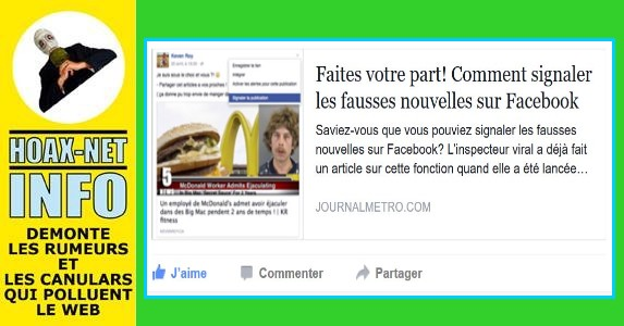 Faites votre part! Voici comment signaler les fausses nouvelles sur Facebook !