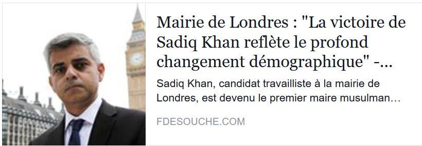 NOUVEAU MAIRE DE LONDRES-------