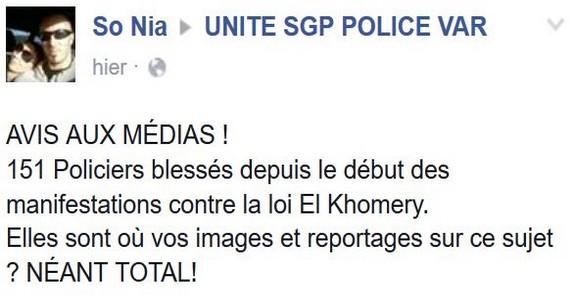 POLICIER FRANCAIS BLESSE-