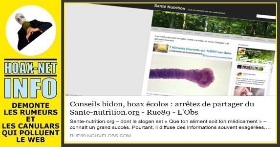Conseils bidon, hoax écolos : arrêtez de partager du Sante-nutrition.org