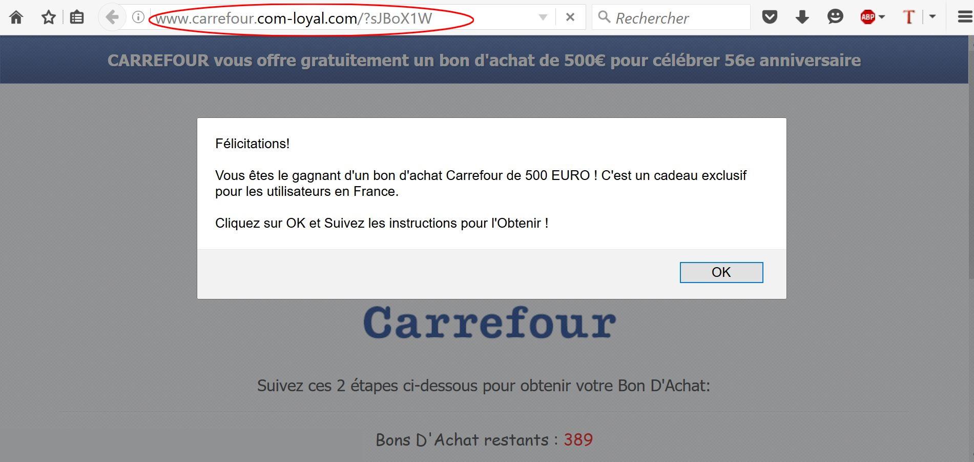 1-CARREFOUR - GAGNEZ 200 EUROS-
