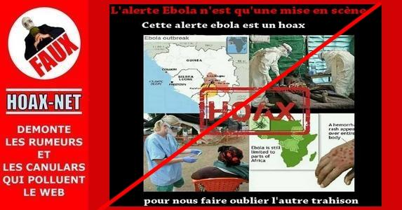 Non, le virus Ebola n'est malheureusement pas un hoax !