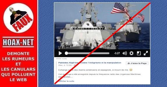 Echange entre marins américains et espagnols.