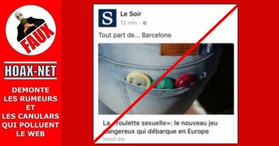 Le phénomène nommé « la roulette sexuelle » à Barcelone ou ailleurs n'existe pas !