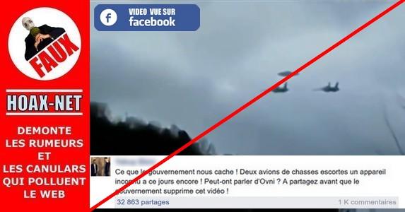 NON, ce ne sont pas deux avions de chasse qui escortent un appareil inconnu à ce jour  !