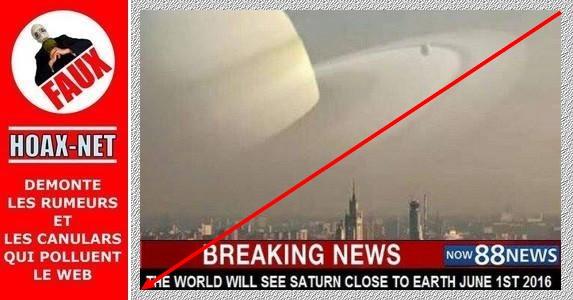 NON, ce 1er juin 2016, Saturne ne sera pas le plus proche de la Terre depuis 10.000 ans !