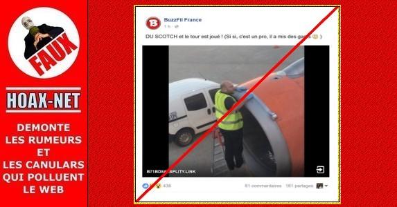 NON, on ne répare pas les avions avec du ruban adhésif normal !