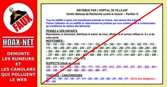FAUX document, ce hoax existe de puis 1976 sous le nom de «Tract de Villejuif» .