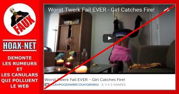 Cette vidéo de la danseuse qui prend feu accidentellement n'était qu'un canular !