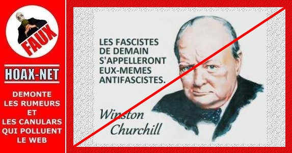 Fausse citation de Winston Churchill !