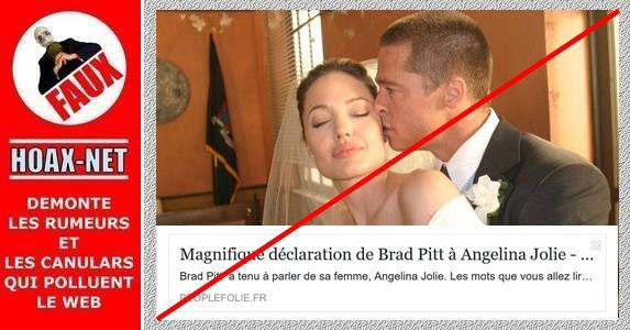 NON, Brad PITT n'a pas écrit cette lettre !