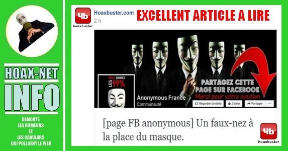 NON, Anonymous n'a pas de page Facebook : plus de 580.000 fans ont likés un Fake !