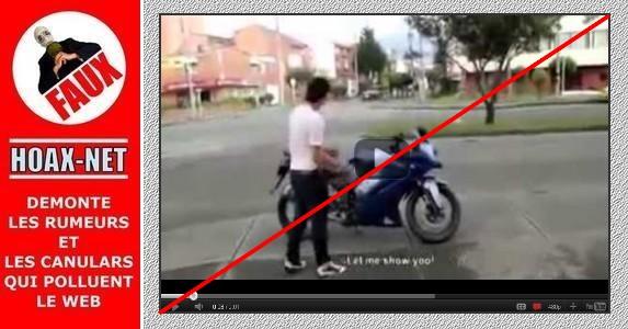 NON, cette voiture n'a jamais percuté cette moto.