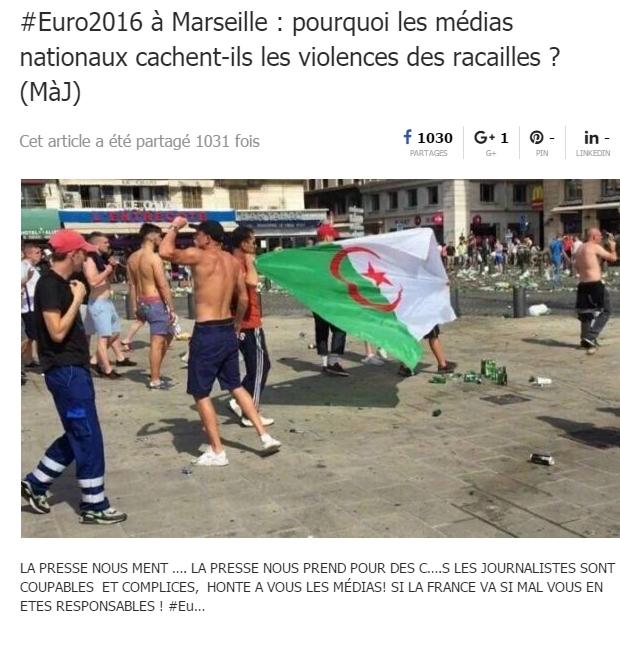 Hoax Algériens Marseille TWITTER 2