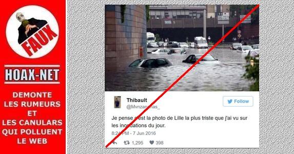 Une photo intox des inondations à Lille fait le buzz