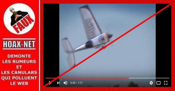 Non, James Andersson n'a jamais posé son avion en ayant perdu une aile.