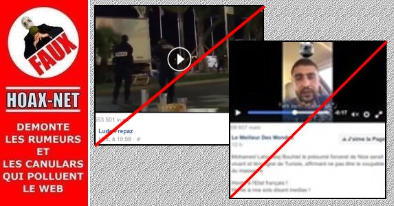 Attentats de Nice : 2 manipulations Vidéo
