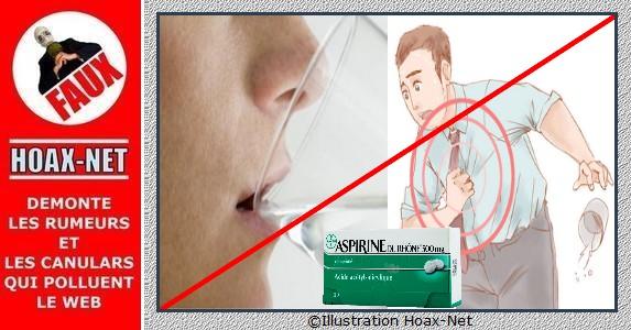 Les fausses recommandations concernant la prise d'eau et d'aspirine.