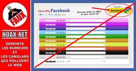 Nouvelle arnaque au » changement de couleur du compte Facebook » via Google Chrome.