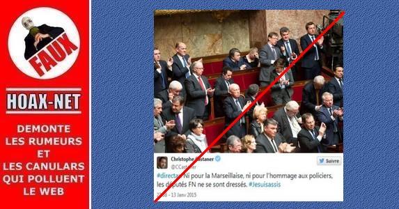 OUI, Les députés FN se sont bien levés pour « La Marseillaise » en hommage aux victimes de Charlie Hebdo.