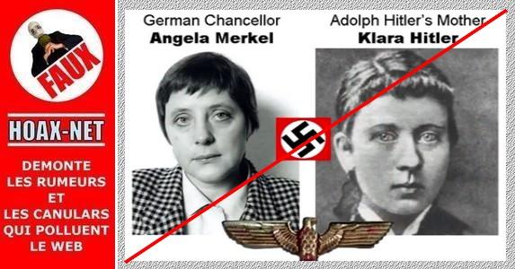 Non, Angela MERKEL n'est pas la fille d'A. Hitler et n'a pas de liens d'amitié avec les néo-nazis Allemands