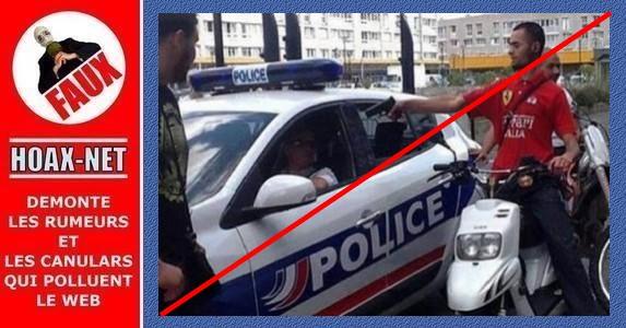 Ce jeune homme qui pointe un pistolet sur un policier n'était qu'une pure fiction