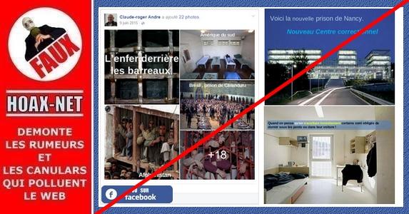 NON, ce ne sont pas des images de la «nouvelle prison de Nancy»