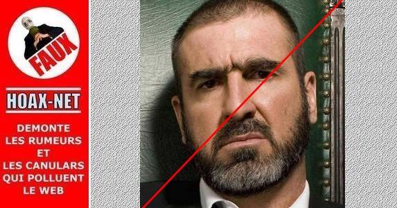Non, Eric Cantona n'a pas écrit cette lettre.